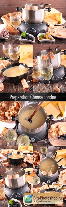 Preparation Cheese Fondue