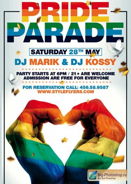 Pride Parade PSD Flyer Template