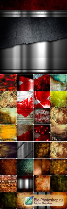 Abstract Grunge background collection