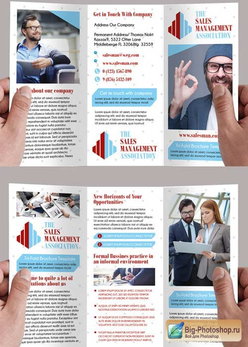 The Salesman Premium Tri-Fold PSD Brochure Template