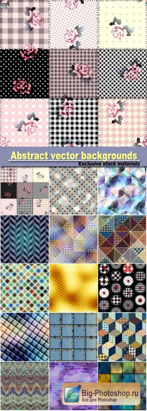 Abstract vector backgrounds with different patterns