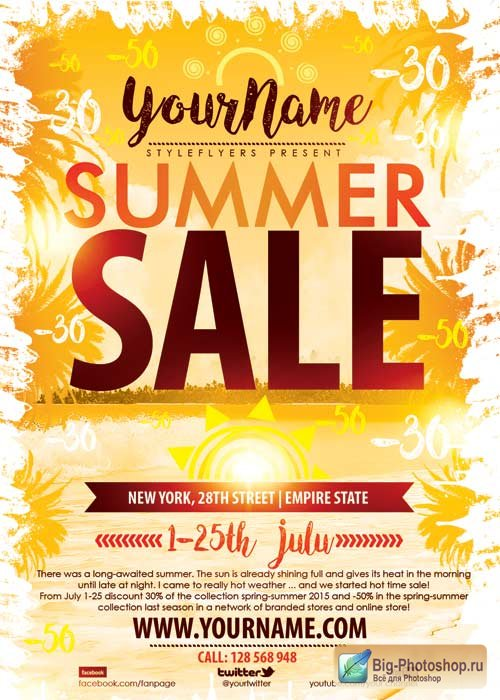 Summer Sale V3 PSD Flyer Template