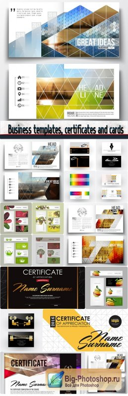 Business templates, certificates and cards design