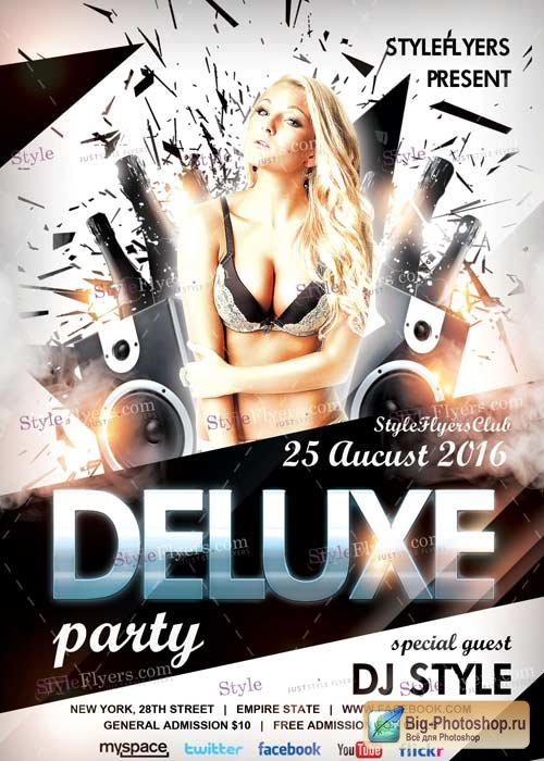 Deluxe Party PSD V10 Flyer Template