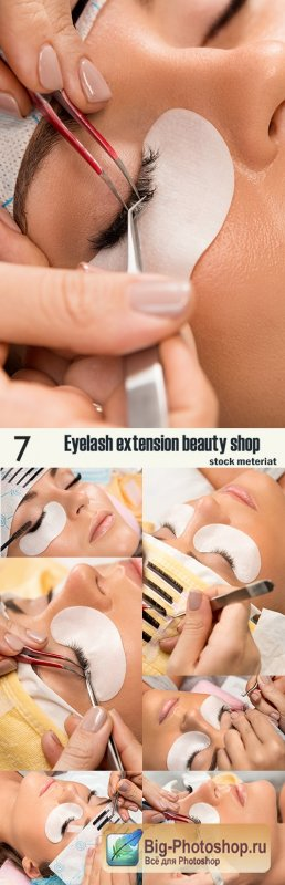 Eyelash extension beauty shop