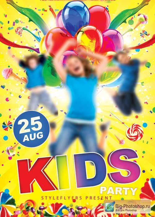 Kids Party V2 PSD Flyer Template