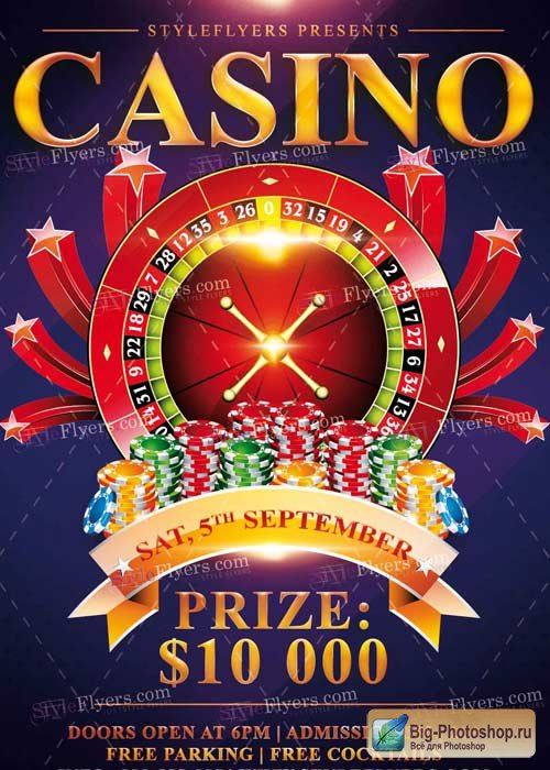Casino V7 PSD Flyer Template