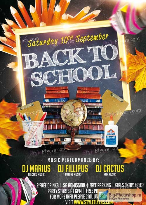 Back To School V11 PSD Flyer Template