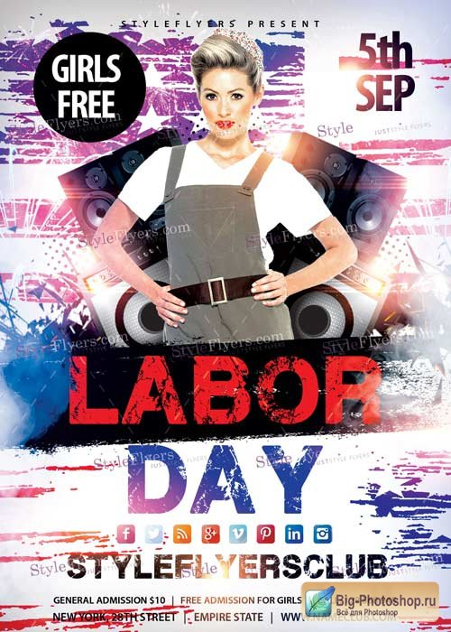 Labor Day V5 PSD Flyer Template