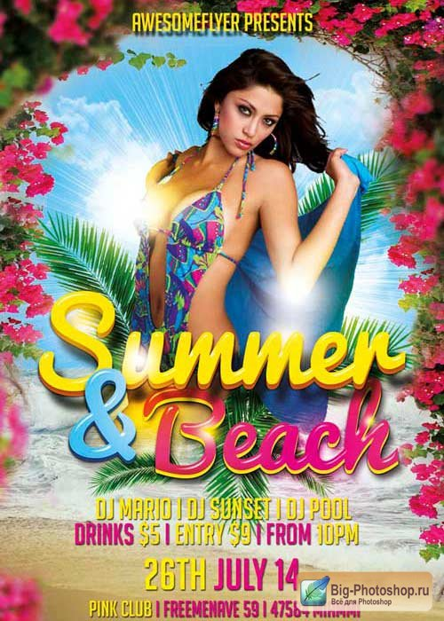 Summer and Beach V10 Flyer Template