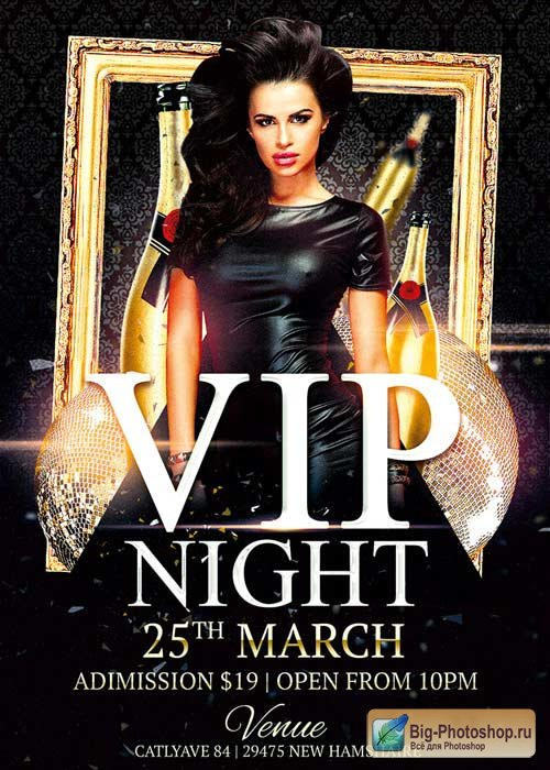 Vip Night Club V10 Flyer Template