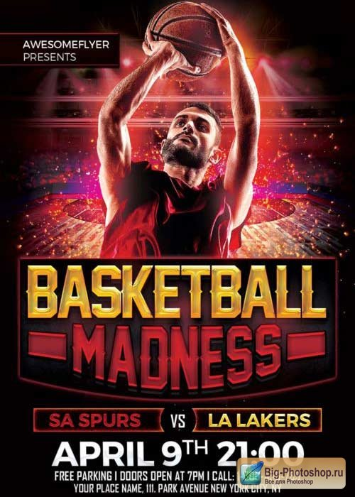 Basketball Madness V3 Flyer Template