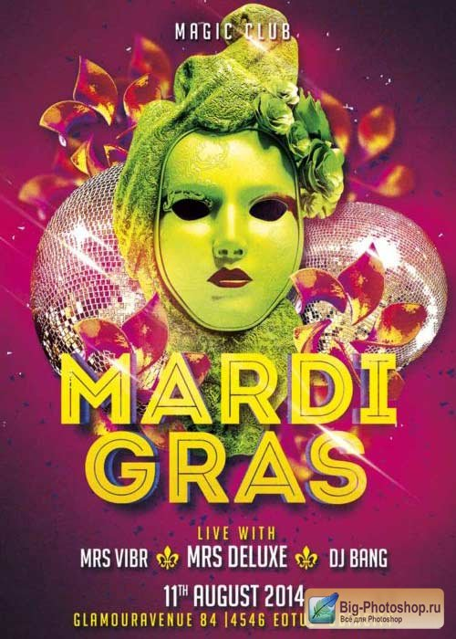 Mardi Gras V9 Flyer Template