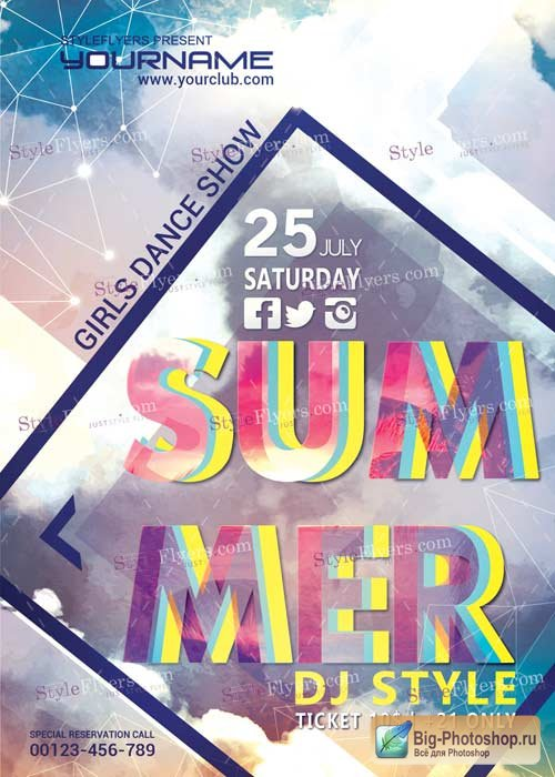 Summer V9 PSD Flyer Template