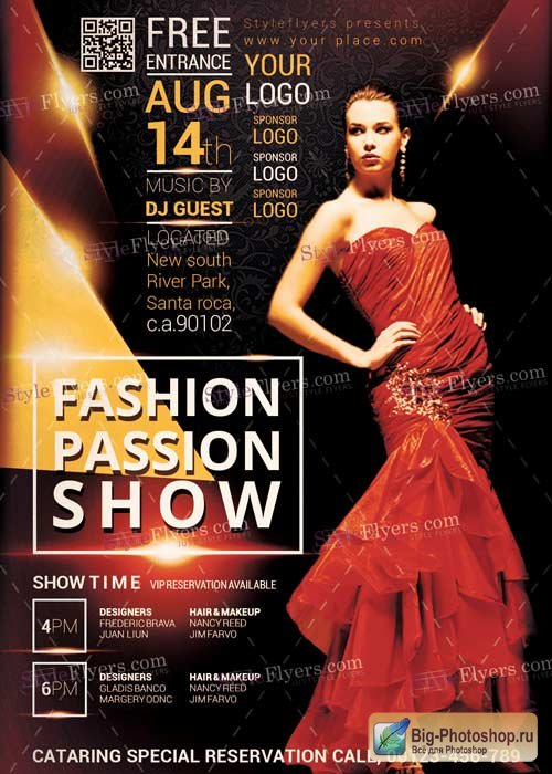Fassion Passion V5 PSD Flyer Template