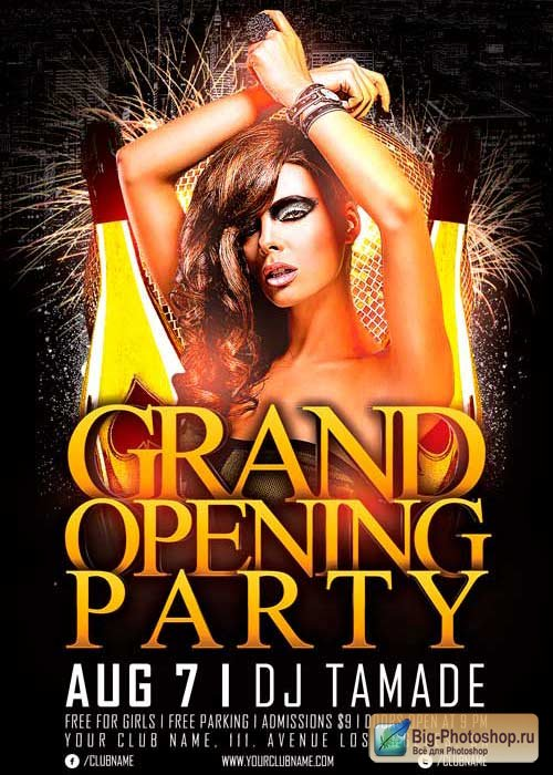 Grand Opening Party V2 Flyer Template