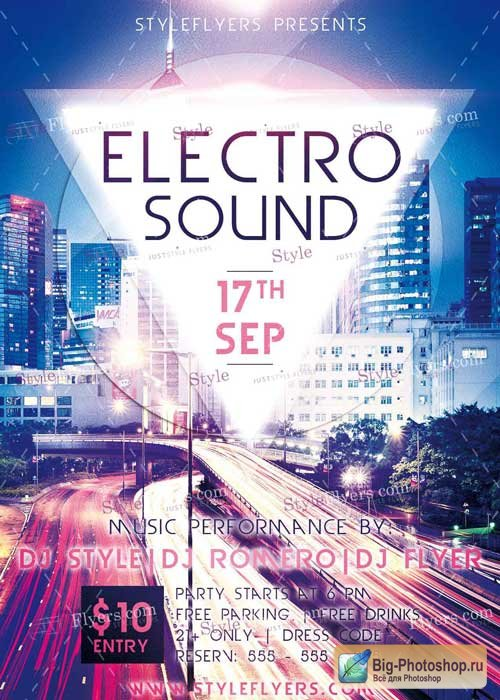 Electro Sound PSD V3 Flyer Template