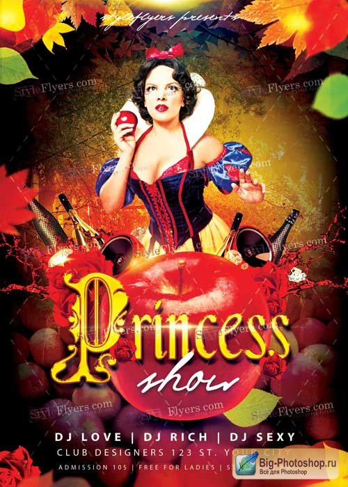 Princess Show PSD V2 Flyer Template