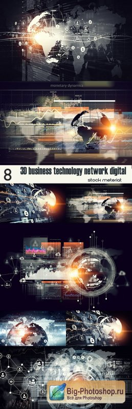 3D business technology network digital