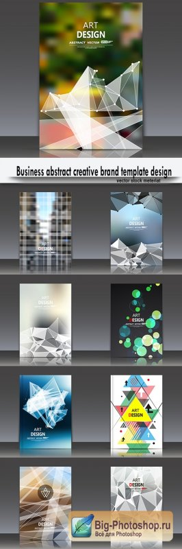 Business abstract creative brand template design