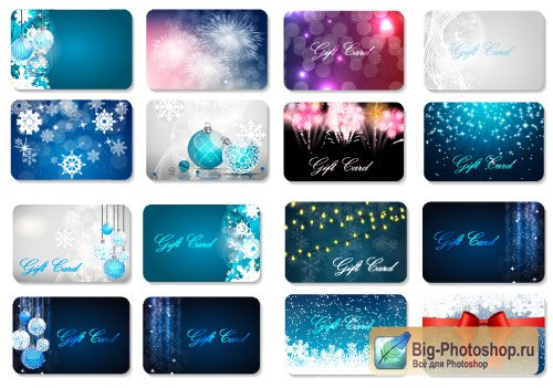 New Year cards with turquoise spheres and with fireworks (Vector)