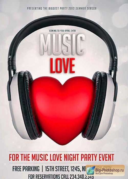 Music Love Flyer V12 Template