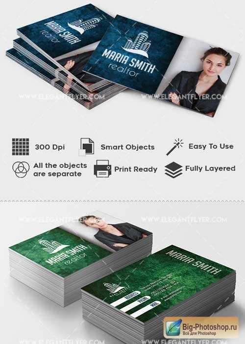 Real Estate Premium Business card PSD V2 Template
