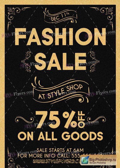 Fashion Sale PSD V11 Flyer Template