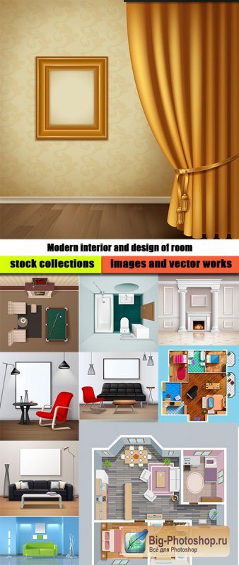 Modern interior and design of room