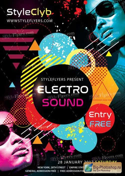 Electro Sound PSD V13 Flyer Template