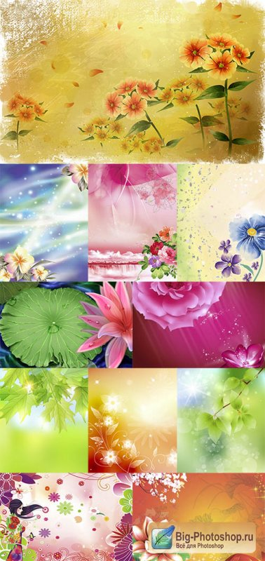 Multilayer backgrounds for Photoshop