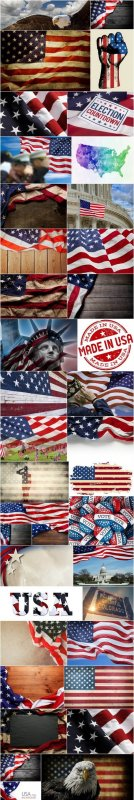 U.S. Style - American Patriot, Set of 39xUHQ JPEG Professional Stock Images