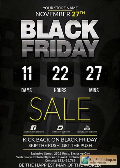 Best Black Friday Deal V10 Premium Flyer Template