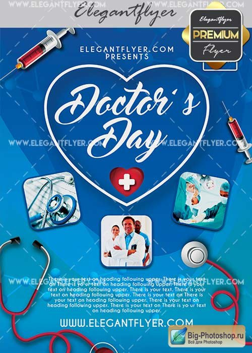 Doctor's Day V7 Flyer PSD Template + Facebook Cover