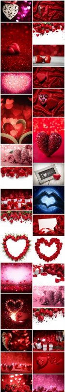Love, Romance, Heart - Valentines Day - Set of 30xUHQ JPEG Professional Stock Images