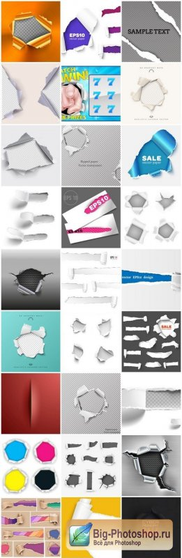 Torn Hole Design Elements