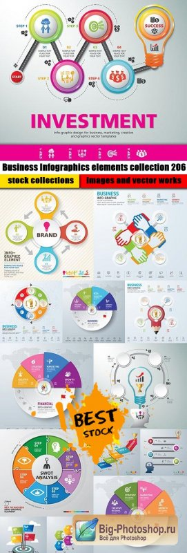 Business Infographics elements collection 206