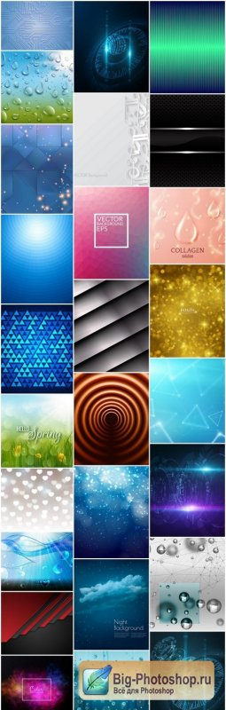 Abstract Background Collection #214 - 26 Vector