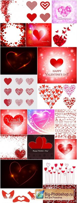 Heart & Love - Happy Valentines Day 3 - Set of 20xEPS Professional Vector Stock