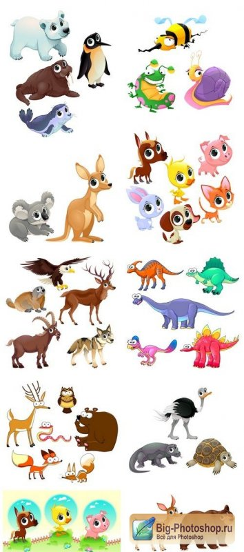 Funny animals 10X EPS