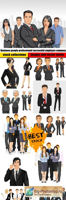 Business people professional successful employee company