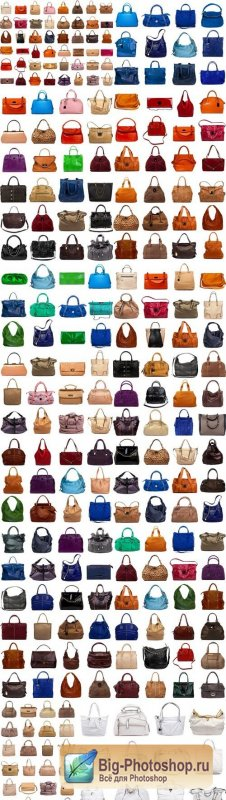 Collection of multicolored female bags - 19xUHQ JPEG