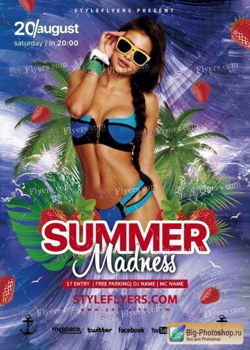 Summer Madness V18 PSD Flyer