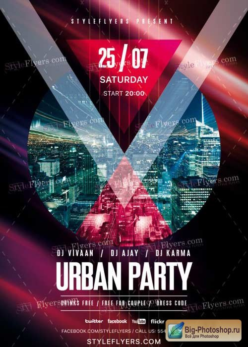 Urban Party V17 PSD Flyer Template