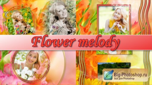 Flower melody - project for ProShow Producer