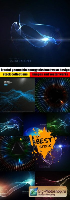 Fractal geometric energy abstract wave design