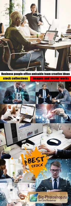 Business people office amicable team creative ideas