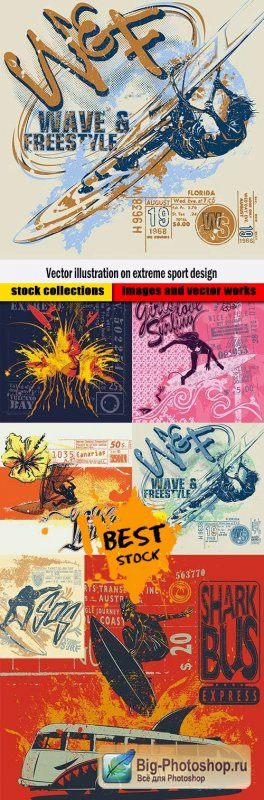 Vector illustration on extreme sport design