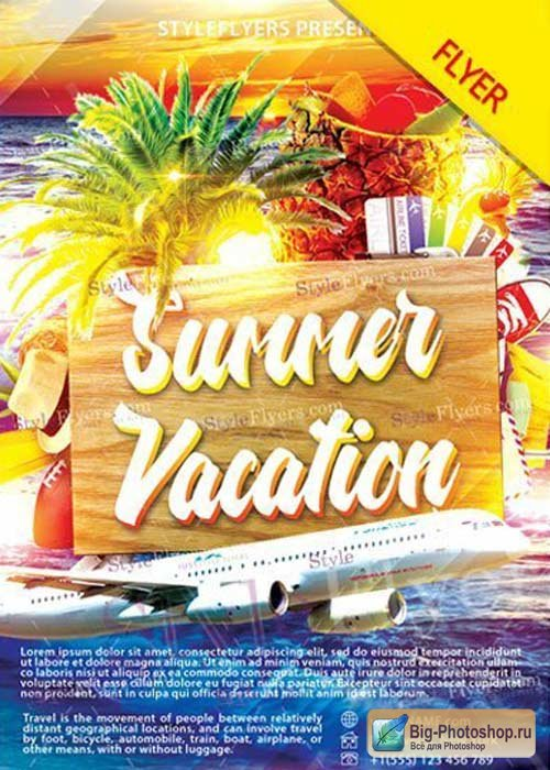 Summer Vacation V29 Flyer PSD Template