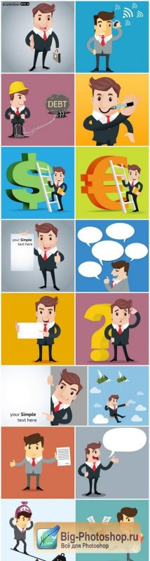 Businessman Set 3 - 16xEPS Vector Stock